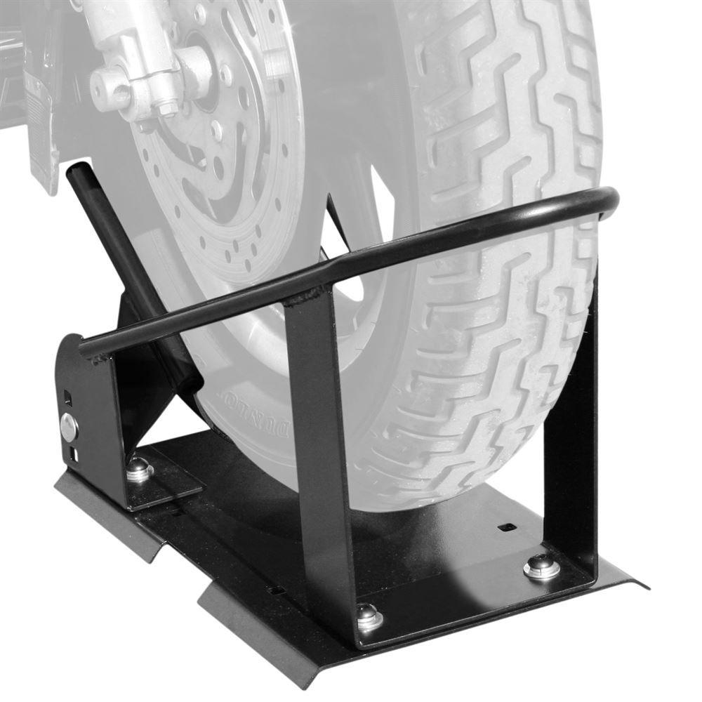 Black widow adjustable motorcycle wheel chock motorcycle