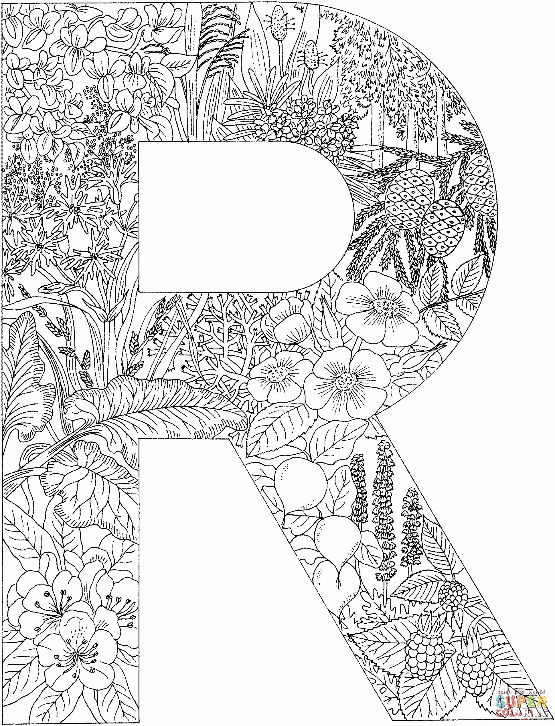 Letter Coloring Pages For Adults In 2020 Coloring Letters Coloring Pages Lettering