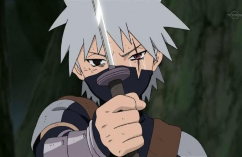 A Young Kakashi After Obito Gave Him His Sharingan Kid Kakashi Kakashi Hatake Naruto Shippuden Anime