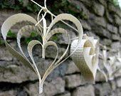#Paper Heart Garland-#WeddingDecor-#papergarland