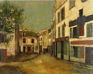 Square Tertre on Montmartre - Maurice Utrillo