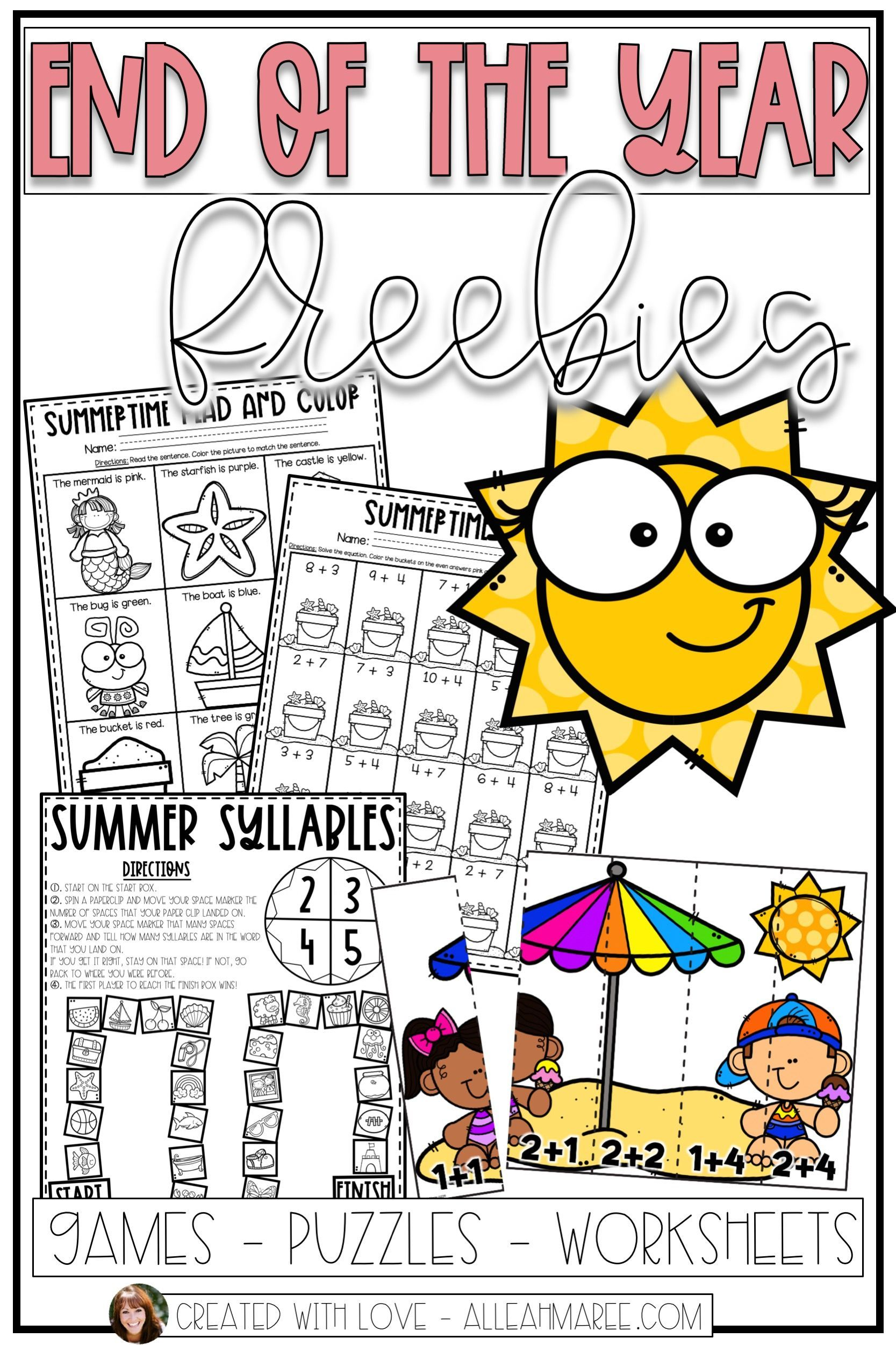 These End Of The Year Activities For Kindergarten And First Grade Are Fun Engaging Worksheets Puzz Kindergarten Fun Kindergarten Activities School Activities [ 2500 x 1667 Pixel ]