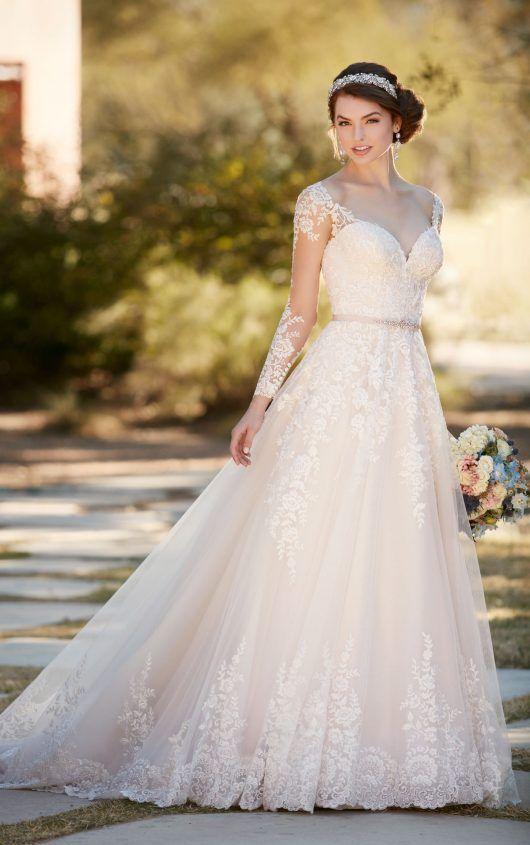 A-line wedding dress with organza skirt | Pinterest | Wedding dress ...