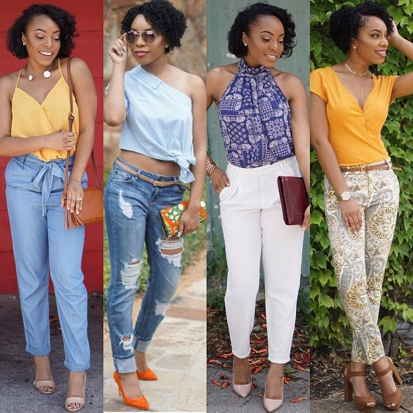 Street Fashion Of African American Women Summer Wear Natural