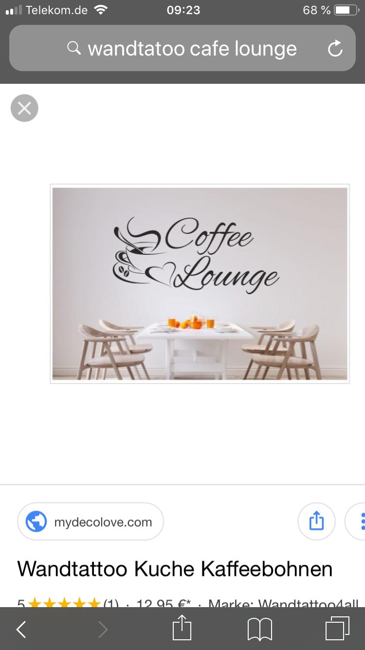 Idee Von Lanamaus Auf Kuche Wandtatoo Wandtattoo Kaffeebohnen
