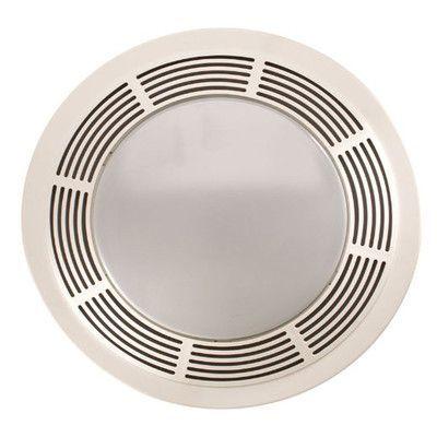 Broan 100 Cfm Bathroom Fan With Light Wayfair Fan Light Round Bathroom Exhaust Fan Bathroom Fan