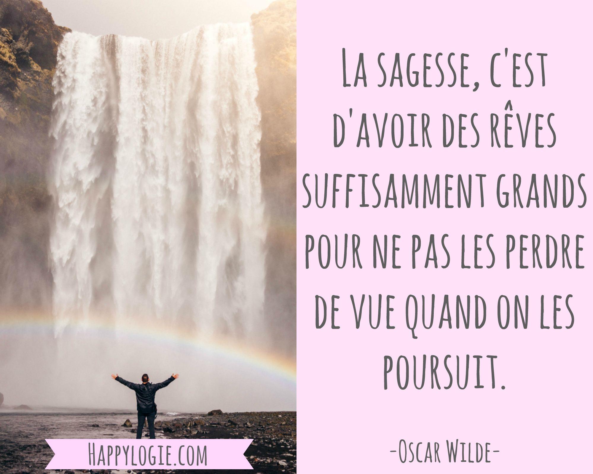 Citation en français   La sagesse, c'est d'avoir des rêves
