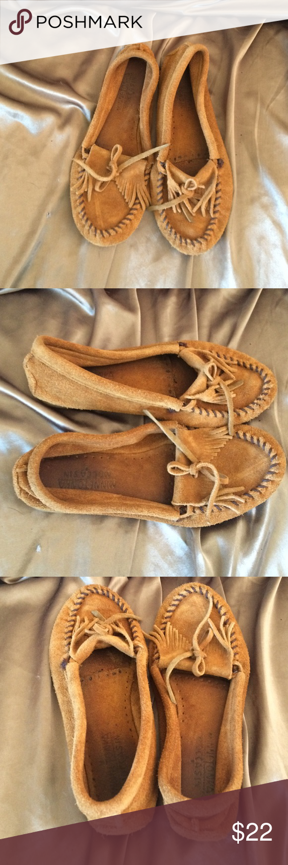 Minnetonka moccasins 7 Cute moccasins. Pre loved. Do show some wear and have a few marks. Minnetonka Shoes Moccasins