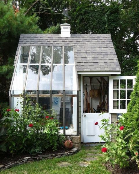 Multifunctional Potting Shed This shed is actually a lot more spacious than you might think.