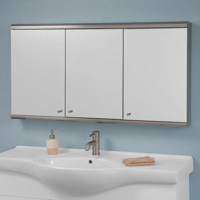 48 Medicine Cabinet Interesting Cosmopolitan Stainless Steel Triview Medicine Cabinet  48 Design Inspiration
