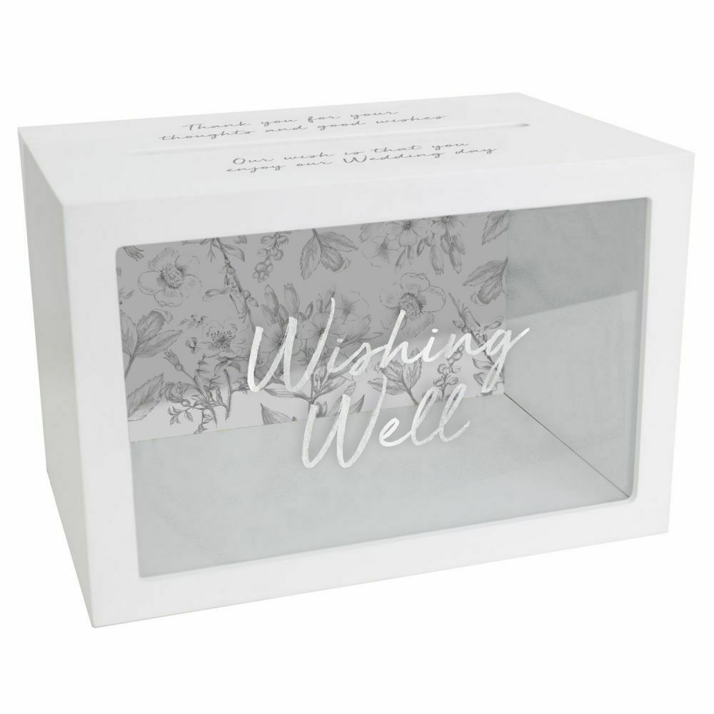 WEDDING WISHING WELL BOX Wishes Cards Money Notes Letters