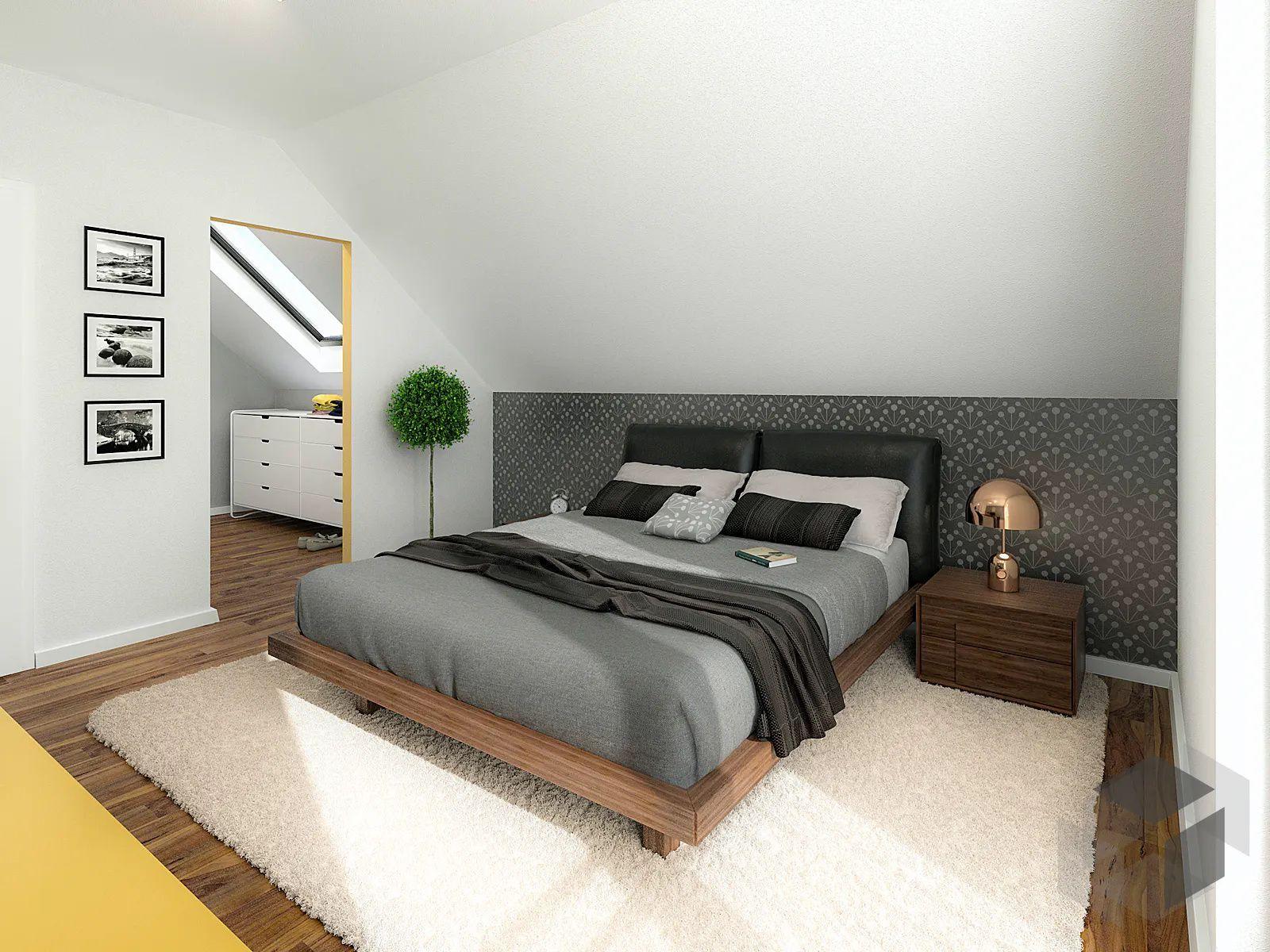 Gemütliches Schlafzimmer   Schlafzimmer dachschräge, Zimmer mit dachschräge einrichten ...