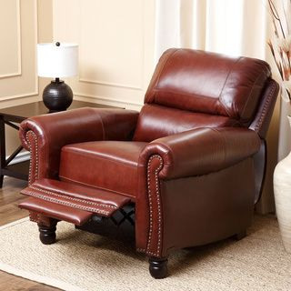Abbyson Living Baron Hand Rubbed Pushback Leather Recliner | Overstock™ Shopping - Big Discounts on & Abbyson Living Baron Hand Rubbed Pushback Leather Recliner ... islam-shia.org