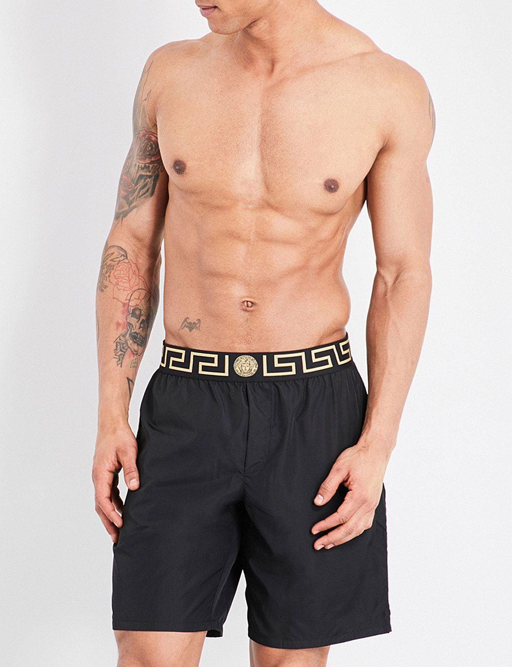d68a210fb6 VERSACE Iconic long swim shorts in 2019   FGUK LOVES   Versace ...