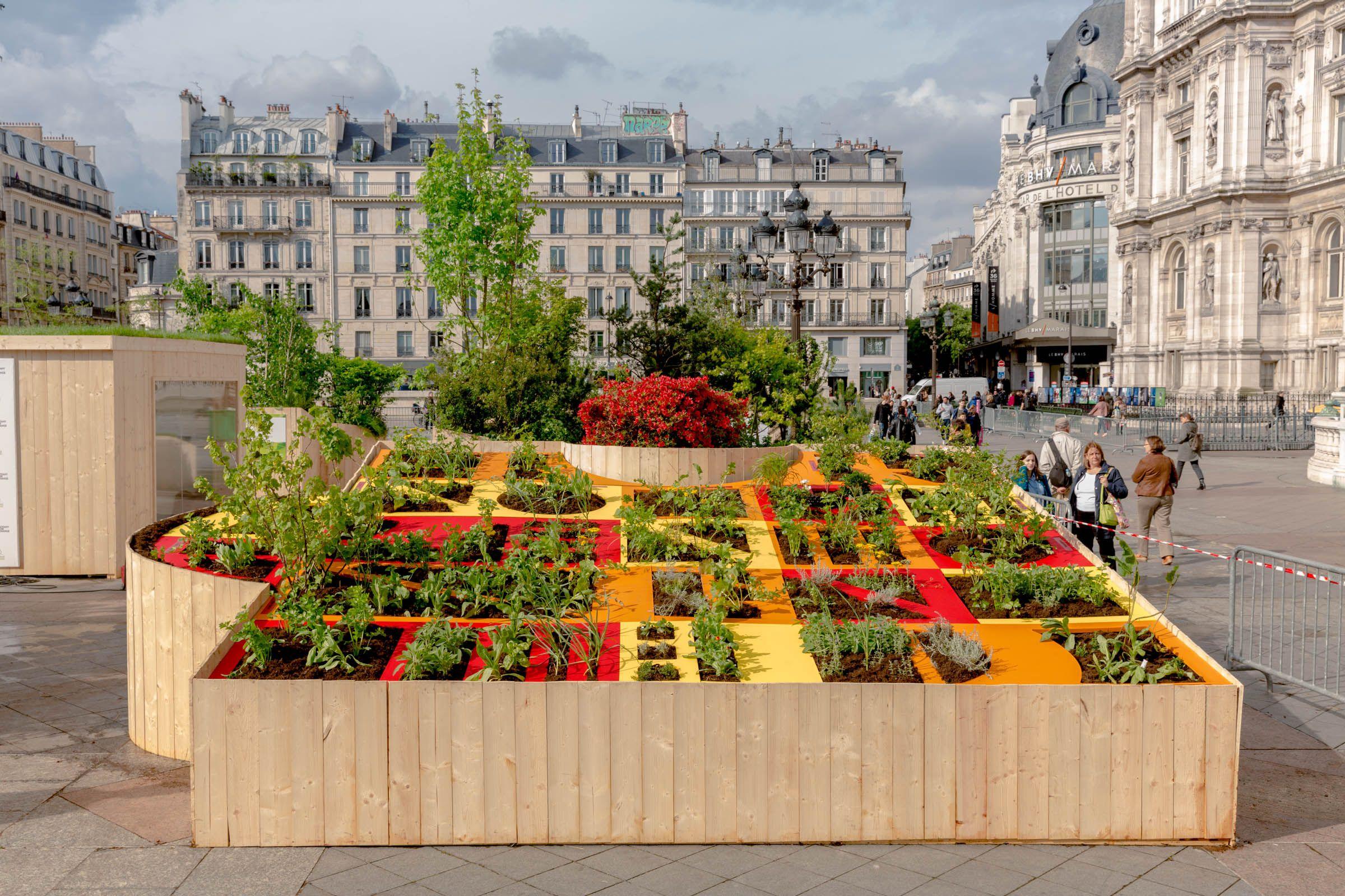 Ilot De Verdeur Projet Laureat Du Prix Botany For Change Ecole Ecole Du Breuil Formation 1ere Annee De B Amenagement Paysager Paysagiste Desherbage
