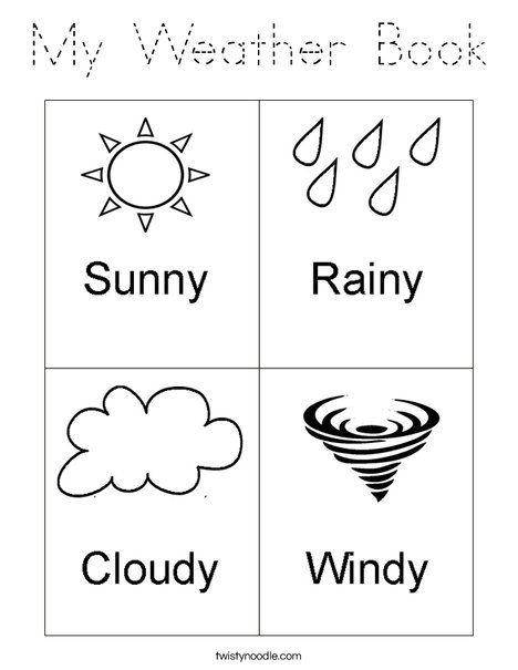 My Weather Book Coloring Page Pdf Çıktı Pinterest Weather - new preschool coloring pages rain