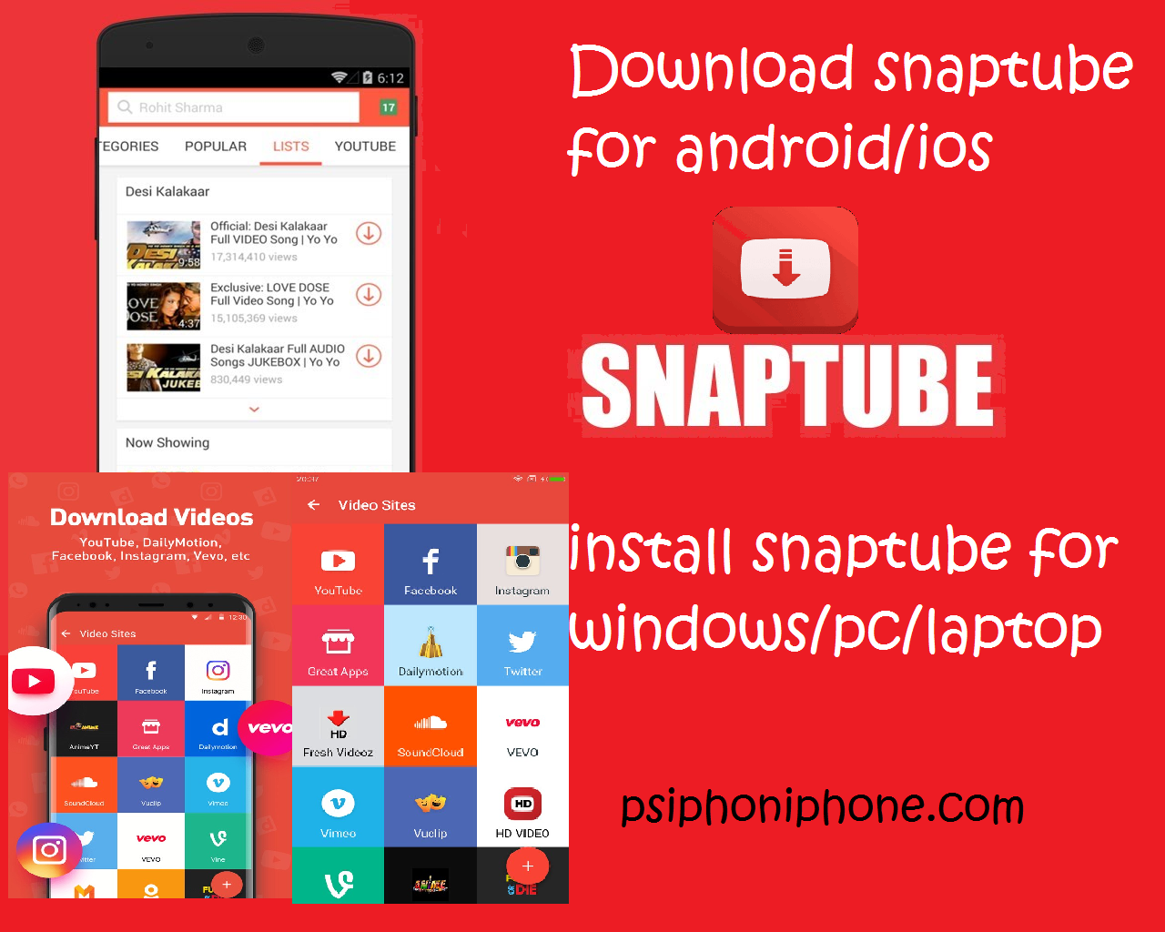 snaptube download for android/ios to install snaptube