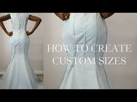 How To Make Your Drape Pattern Fit Size Custom Sizes