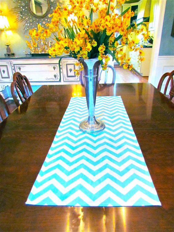 Aqua Blue Table Runner Top Wedding 12 X 72 Table Cloth Decorative Chevron Table Runner 24 95 V Chevron Table Runners Blue Table