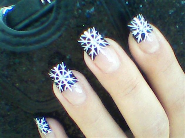 Elegant New Years Winter Design Nail Art Gallery By Nails