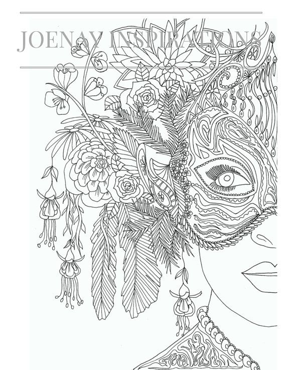 Adults Coloring Book, Printable Coloring Pages, Coloring