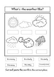 Kids Worksheet Weather Worksheets