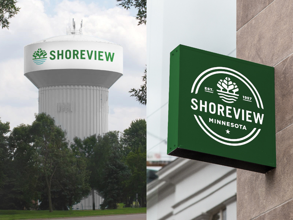 Brand New New Logos for Shoreview, MN, by Peters Design