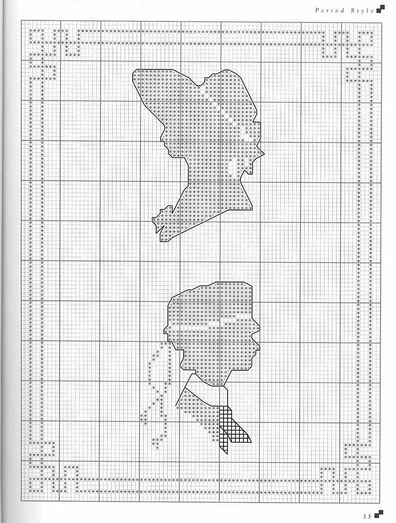 0 point de croix camées - cross stitch cameo