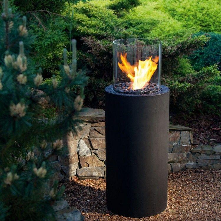 outdoor bioethanol kamin glasfire technologie moderne. Black Bedroom Furniture Sets. Home Design Ideas