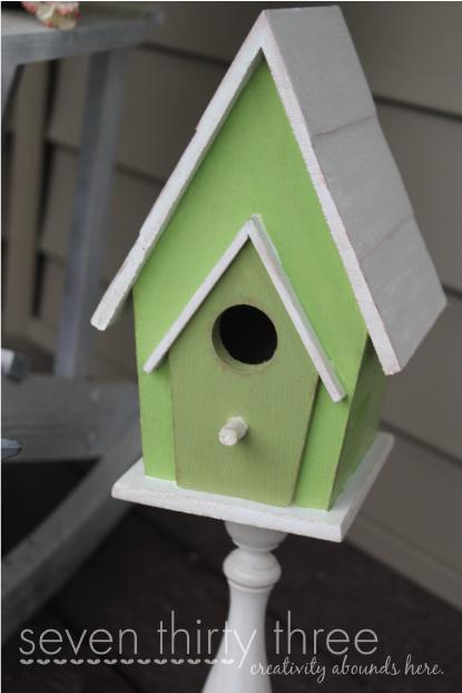 Seven Thirty Three       A Creative Blog: Pedestal Birdhouse   DIY