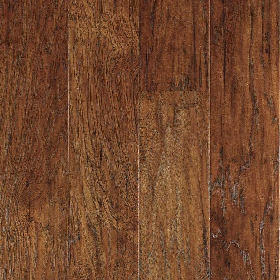 Shop allen + roth Handscraped Hickory Wood Planks Sample