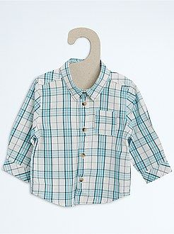 2d8ecf997f3 Camisas - Camisa de popelina a cuadros - Kiabi