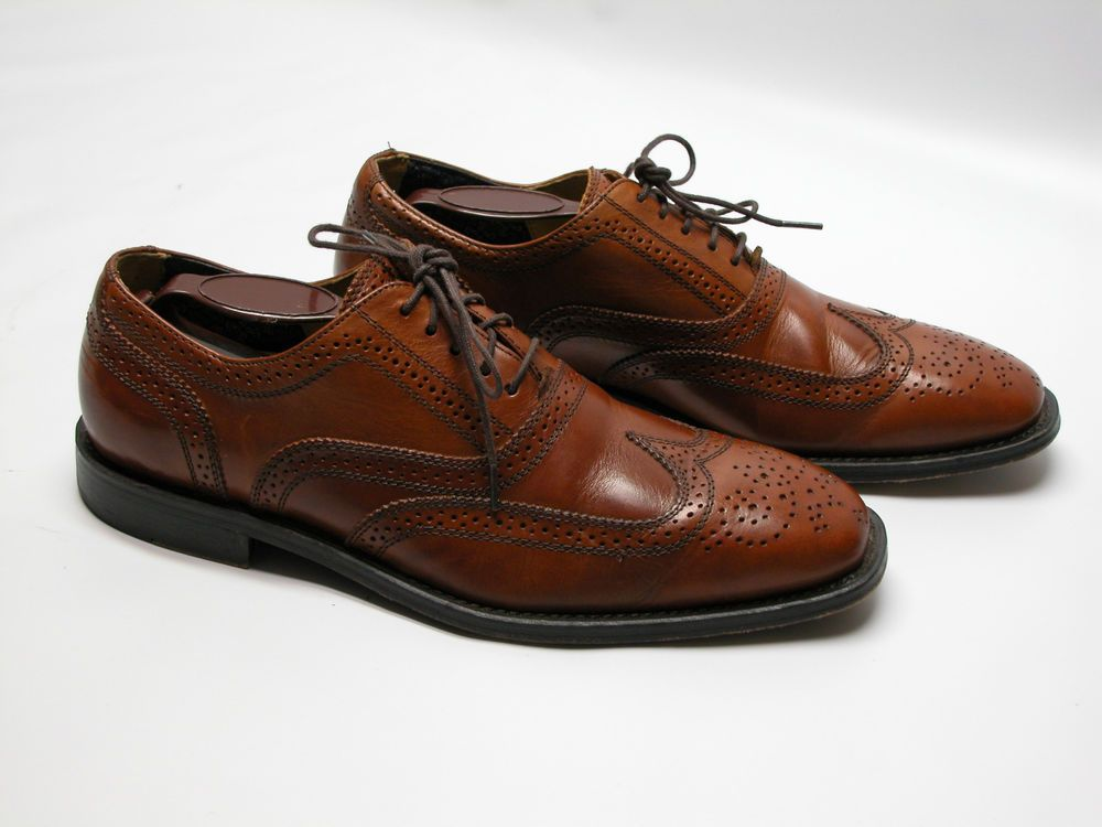 Florsheim Imperial Bio Comfort Shoes MenS 7.5D Wing Tip Brown Leather # Florsheim #Oxfords