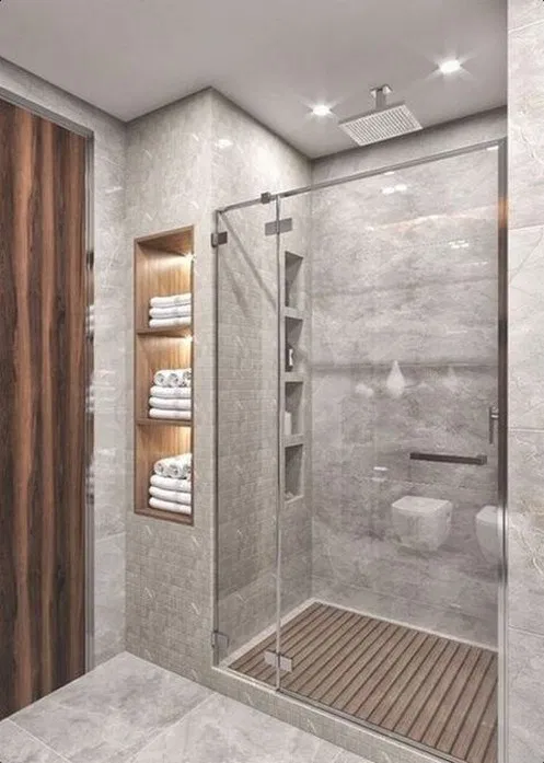 44 Most Popular And Modern Bathroom Design Ideas For 2020 In 2020 Small Bathroom Makeover Small Bathroom Remodel Modern Master Bathroom