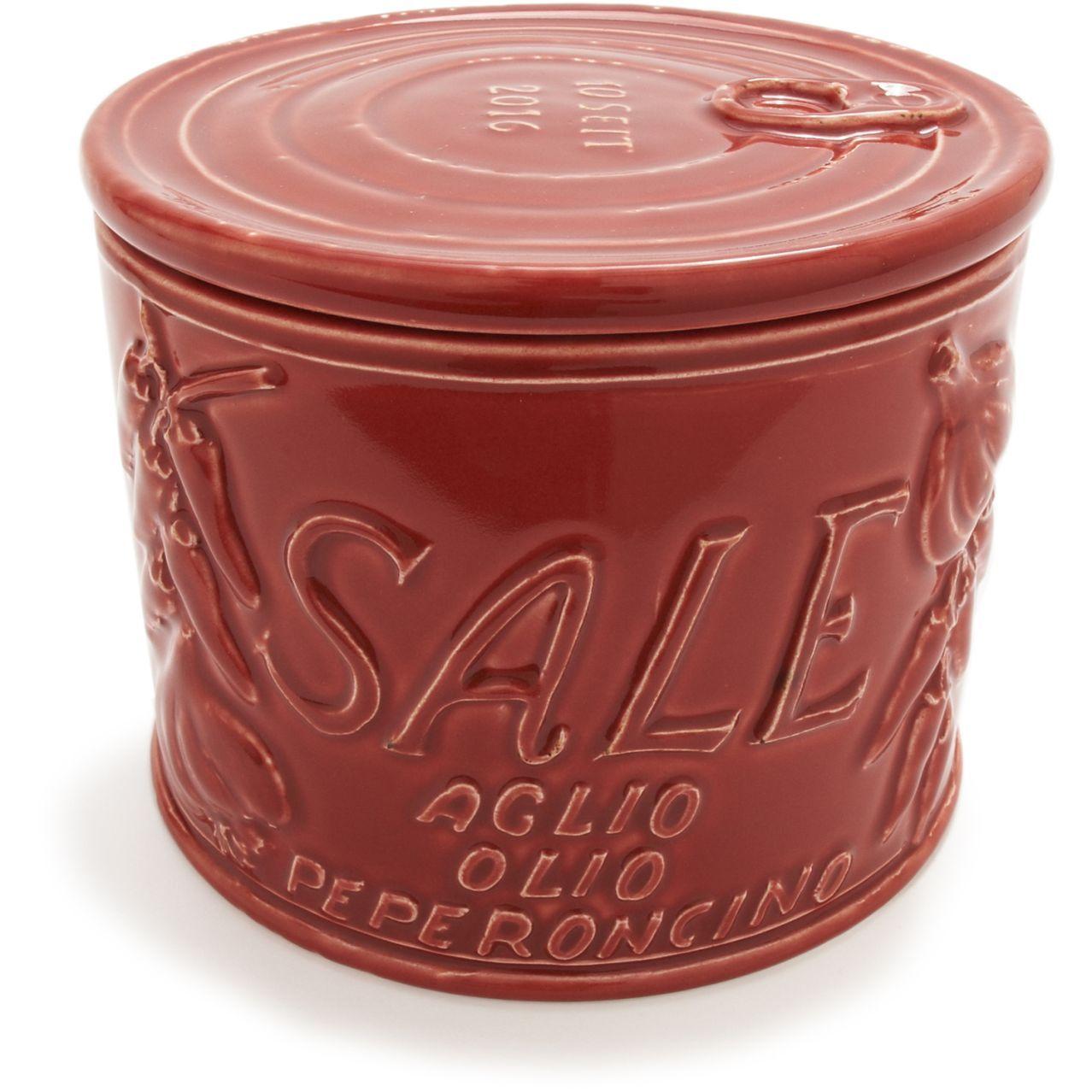 italian ceramic round salt boxes sur la table for the