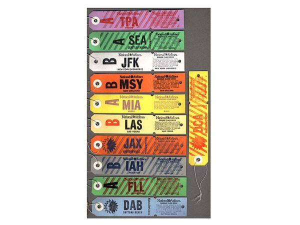 The Humble Airline Baggage Tag Is A Design Masterpiece  Slate