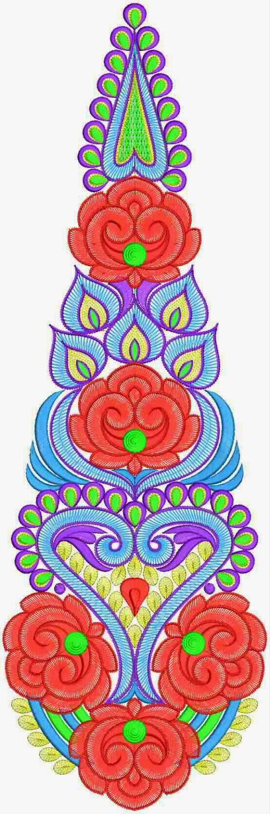 red color floral design Patch | Embdesigntube.blogspot | Pinterest ...