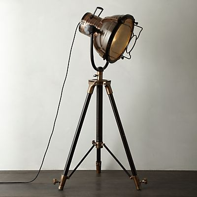 Buy Libra Vintage Floor Lamp, Antique Brass online at JohnLewis ...
