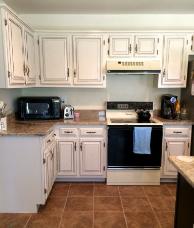 Newly painted cabinets