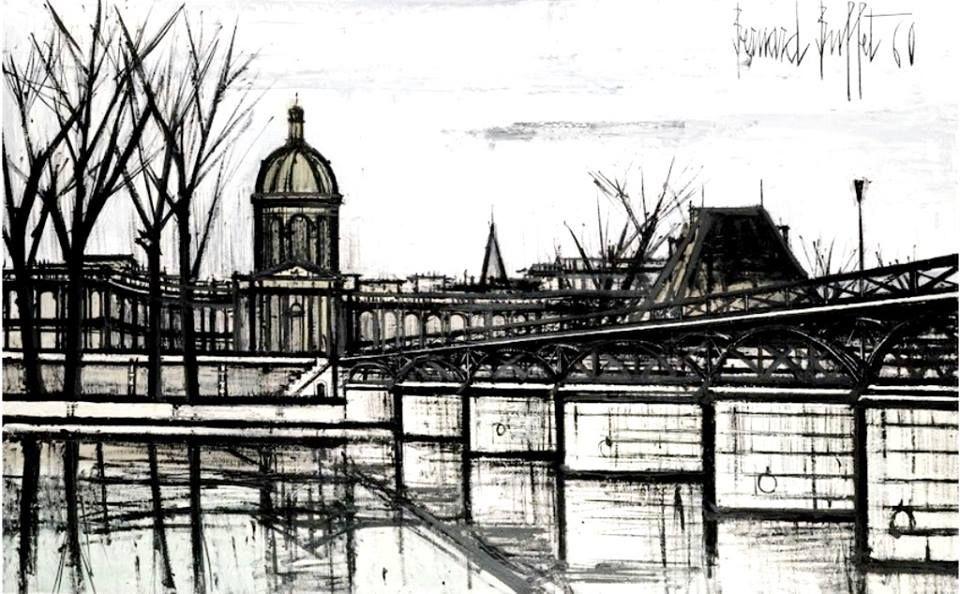 Bernard Buffet - Le Pont des Arts et l\'Institut, 1960. | Pittori ...
