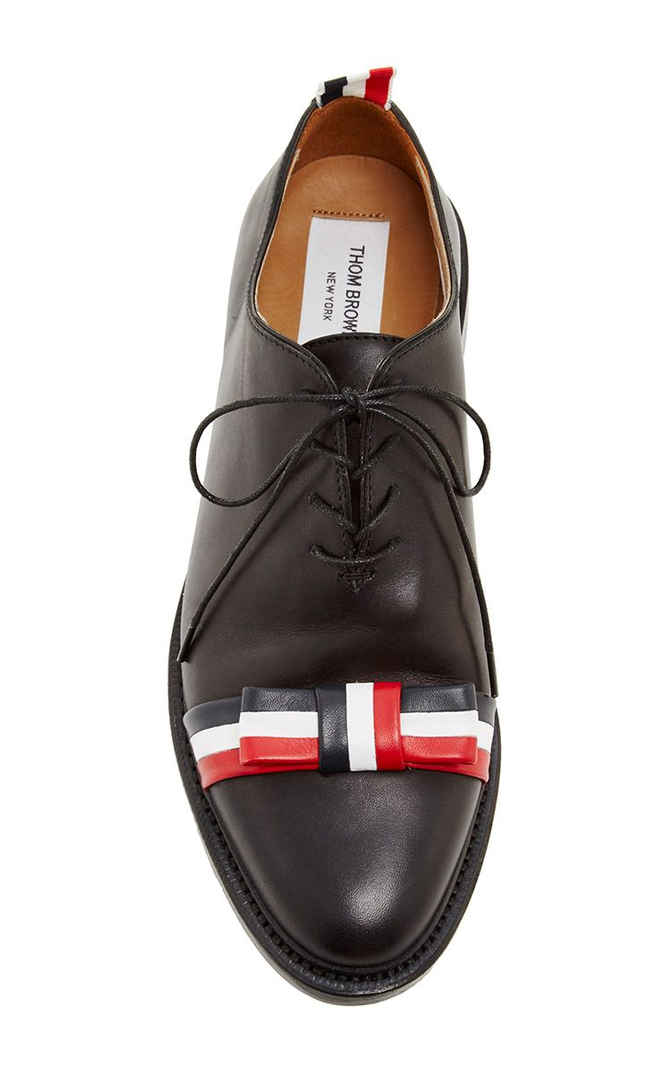 Box Calf With Leather Bow Shoe - Thom Browne Resort 2016 - Preorder now on Moda Operandi
