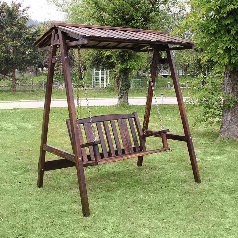 Balcon ext rieur bois conservateur parc swing art carbure - Chaise exterieur bois ...