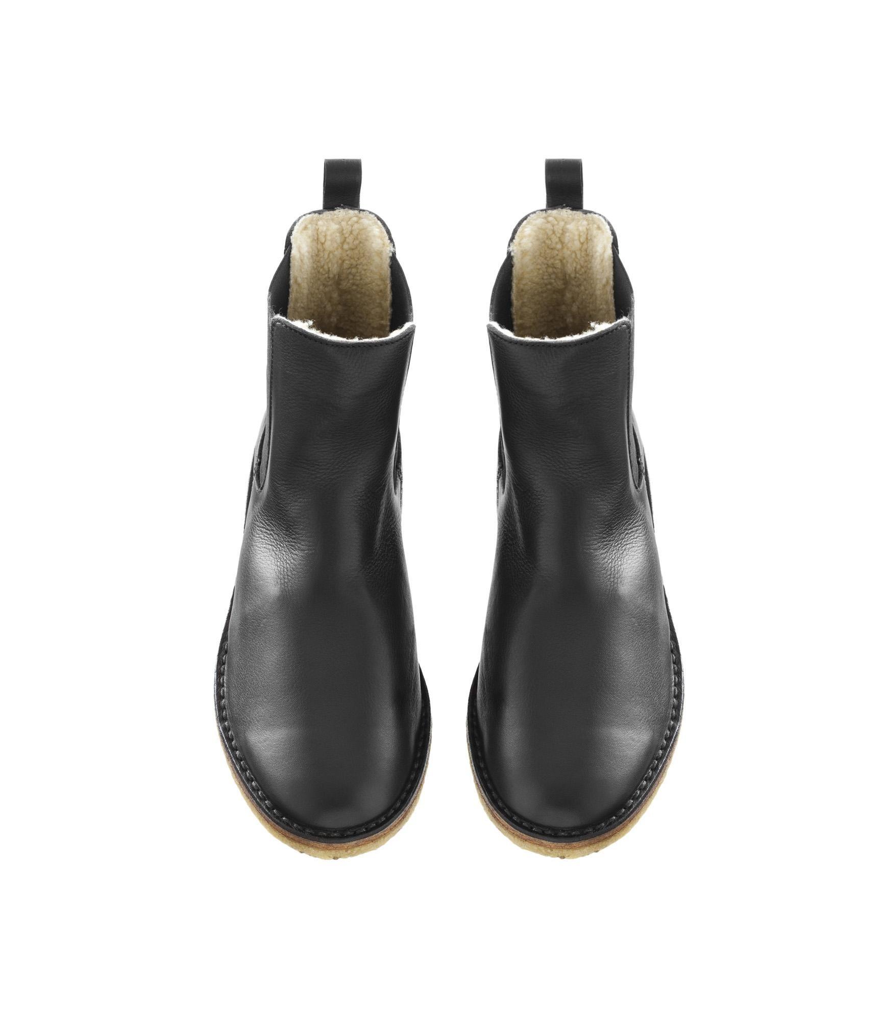 590da492ef8 Fur-lined chelsea boots - BLACK - A.P.C. MEN | Fashion? | Mens fur ...