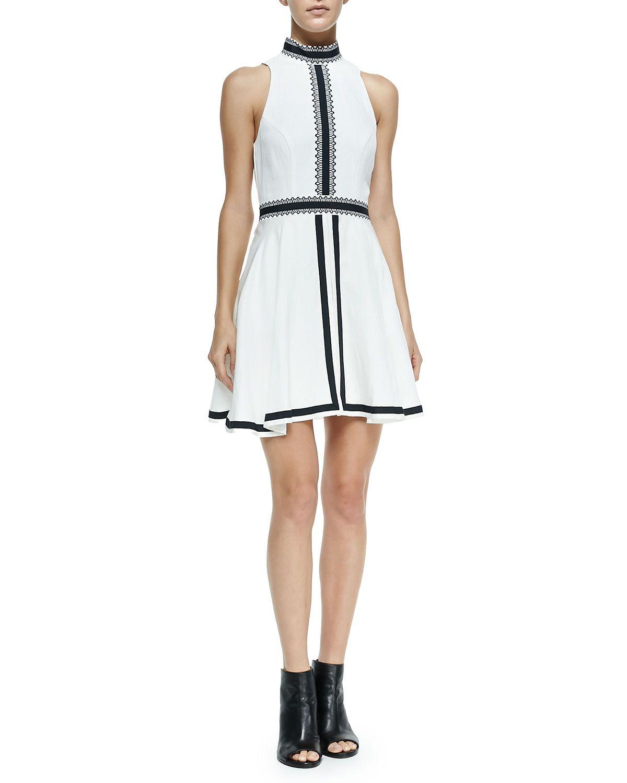 Imagined Features Contrast-Trim Dress, Women's, Size: 36, Ivory - sass & bide