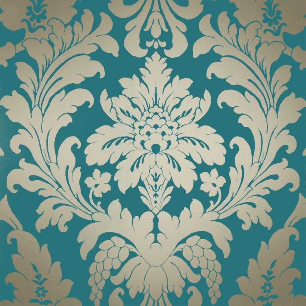 I Love Wallpaper Shimmer Metallic Grande Damask Wallpaper Rich
