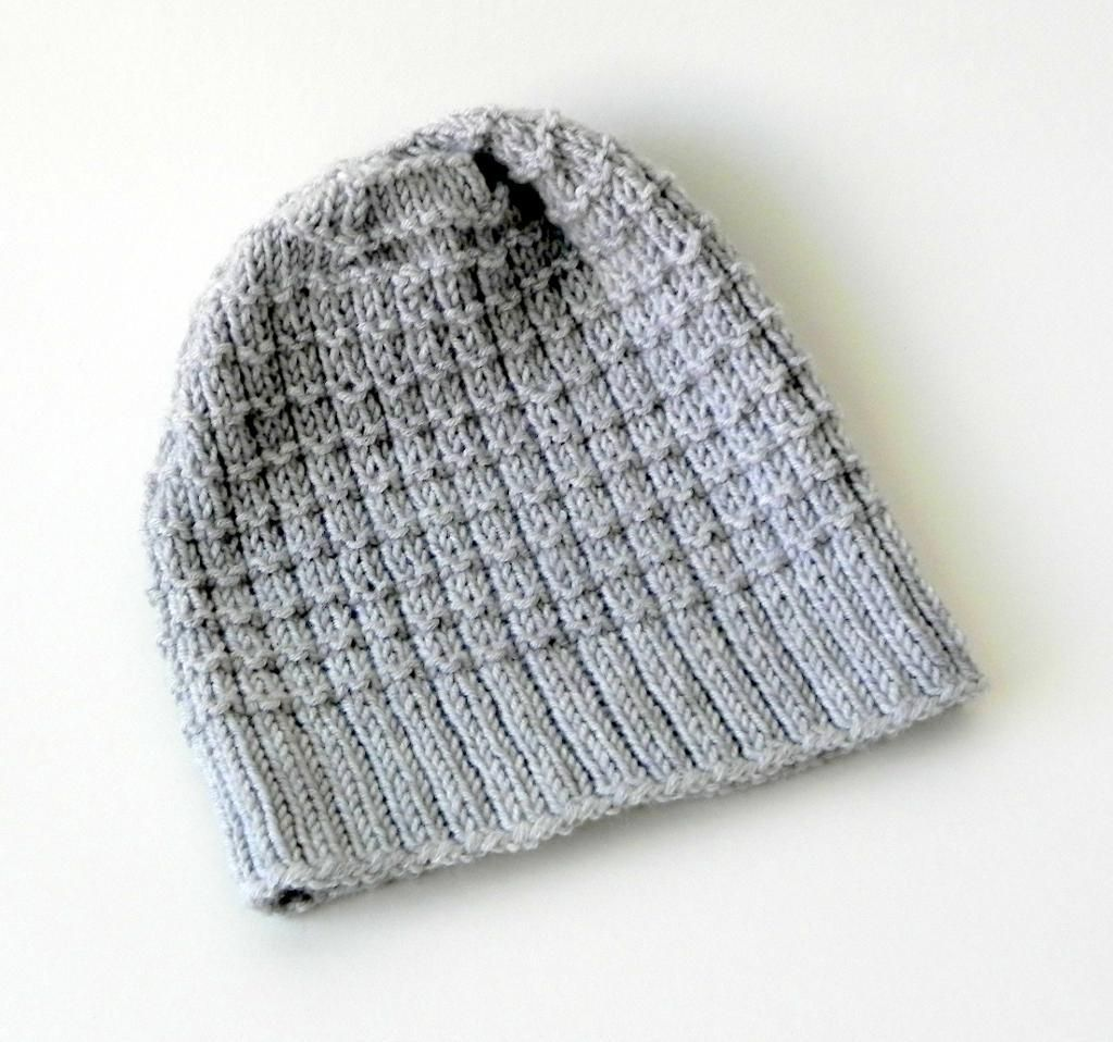Waffle Hat Free Knitting Pattern Knit Hat For Men Knitted Hats Hat Knitting Patterns