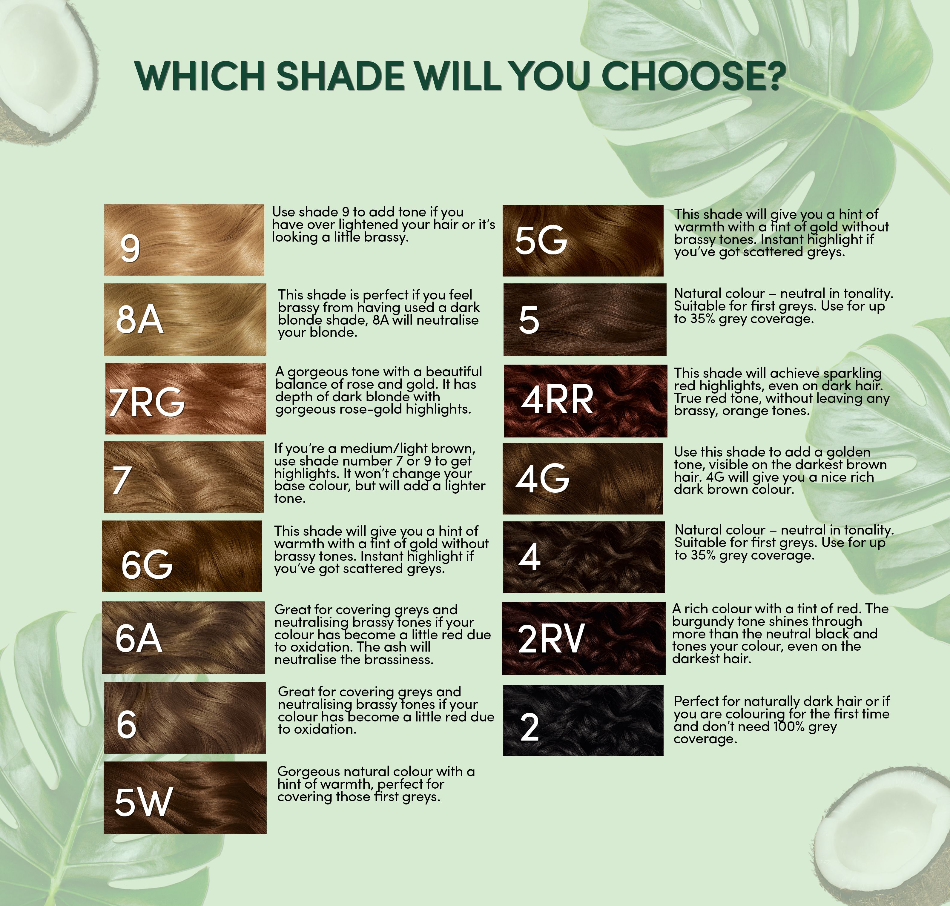 Clairol Natural Instincts Conditioning Colour Shade Chart In 2020 Clairol Natural Instincts Clairol Natural Vegan Hair Dye