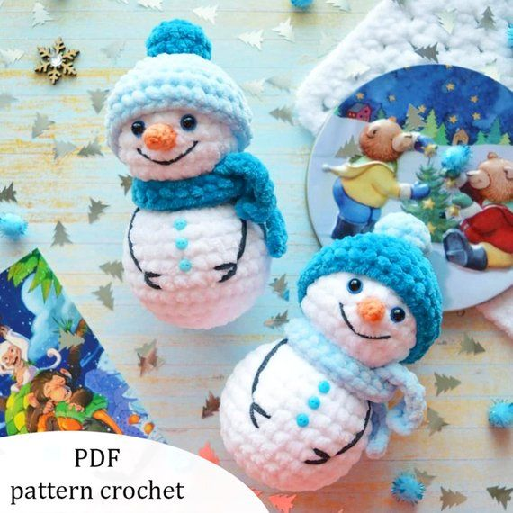 Snowman. Crochet pattern PDF #christmascrochetpatterns
