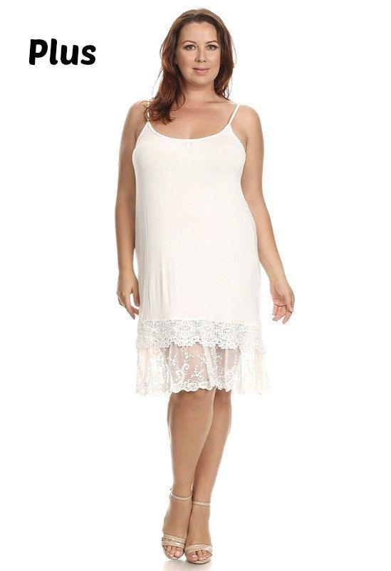 17cdafae5e8 Lace Slip extender PLUS SIZE for dress or skirt to make longer