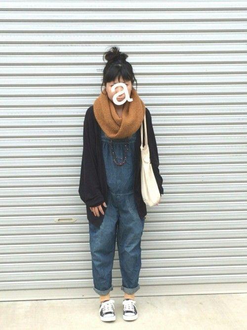 hiromiさんの「プレーンねじりスヌード(studio CLIP)」を使ったコーディネート